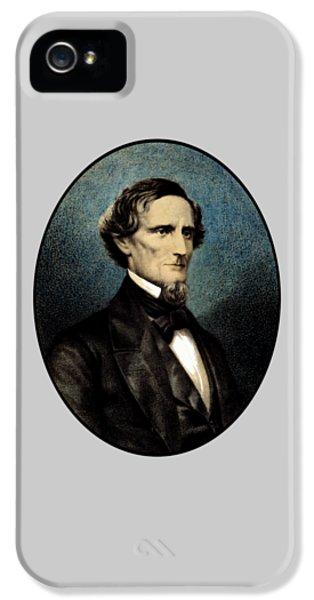 Jefferson Davis IPhone 5 Case by War Is Hell Store