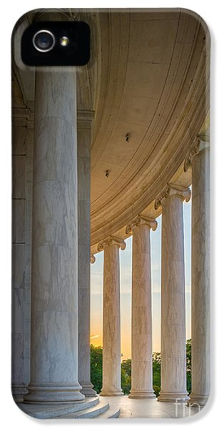 Jefferson Memorial Dawn IPhone 5 Case by Inge Johnsson