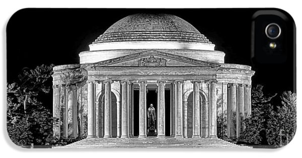 Jefferson Memorial Lonely Night IPhone 5 Case by Olivier Le Queinec