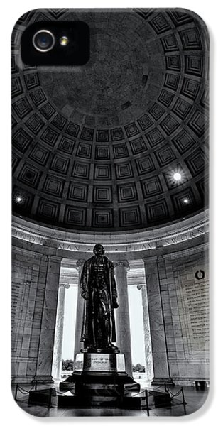 Jefferson Statue In The Memorial IPhone 5 Case by Andrew Soundarajan