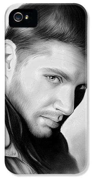 Jensen Ackles IPhone 5 Case by Greg Joens