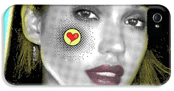 Jessica Alba Pop Art, Portrait, Contemporary Art On Canvas, Famous Celebrities IPhone 5 Case