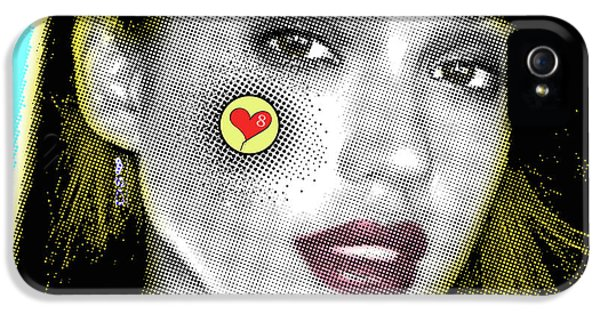 Jessica Alba Pop Art, Portrait, Contemporary Art On Canvas, Famous Celebrities IPhone 5 Case by Dr Eight Love