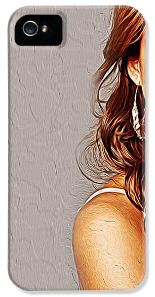 Jessica Alba IPhone 5 Case by Iguanna Espinosa