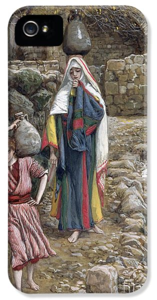 Jesus And His Mother At The Fountain IPhone 5 Case by Tissot