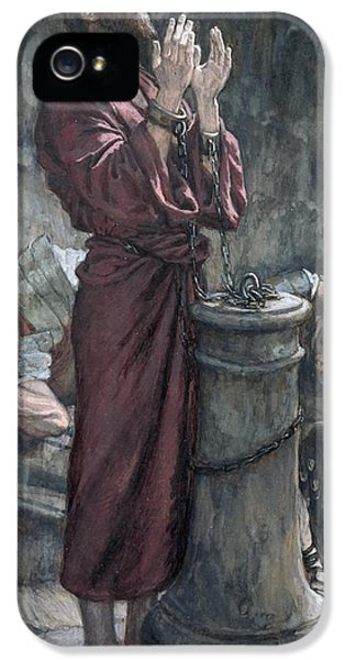 Dungeon iPhone 5 Case - Jesus In Prison by Tissot