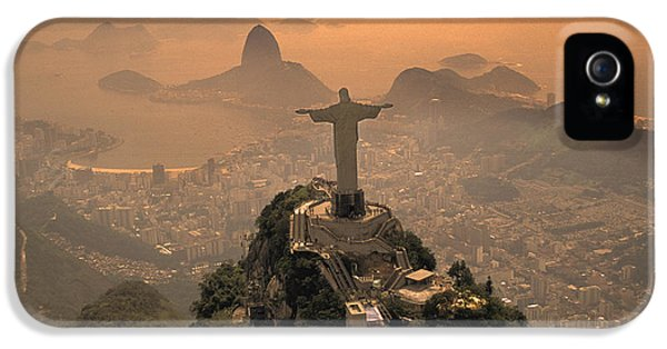 Jesus In Rio IPhone 5 Case by Christian Heeb