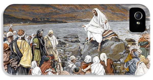 Jesus Preaching IPhone 5 Case by Tissot