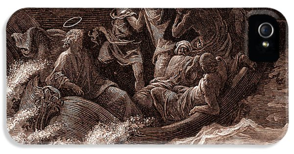 Jesus Stilling The Tempest IPhone 5 / 5s Case by Gustave Dore