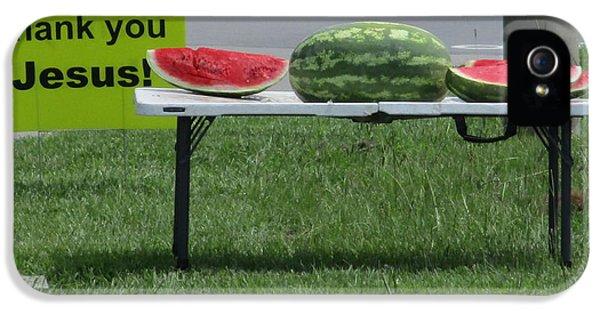 Jesus Watermelon IPhone 5 Case