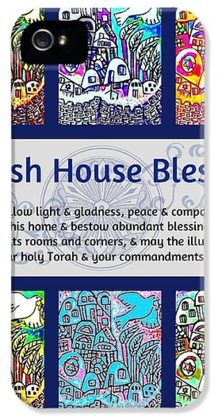Jewish House Blessing City Of Jerusalem IPhone 5 Case