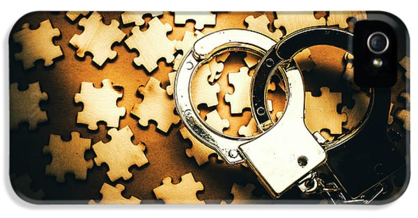 Jigsaw Of Misconduct Bribery And Entanglement IPhone 5 Case by Jorgo Photography - Wall Art Gallery