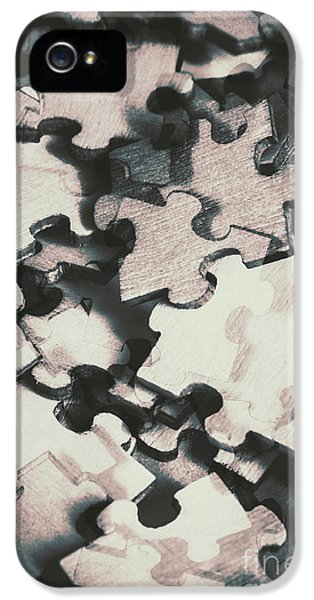 Jigsaws Of Double Exposure IPhone 5 Case by Jorgo Photography - Wall Art Gallery
