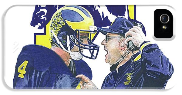 Jim Harbaugh And Bo Schembechler IPhone 5 Case