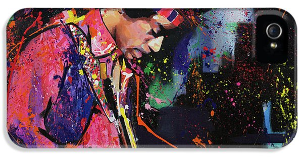 Jimi Hendrix II IPhone 5 Case by Richard Day