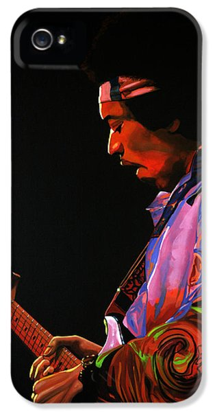 Knight iPhone 5 Case - Jimi Hendrix 4 by Paul Meijering