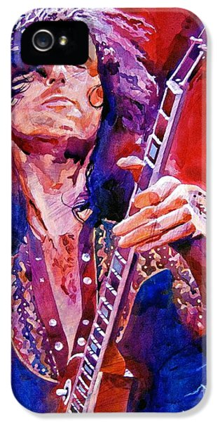 Led Zeppelin iPhone 5 Case - Jimmy Page by David Lloyd Glover