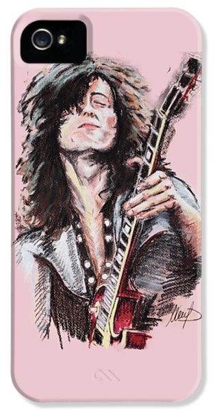 Jimmy Page IPhone 5 Case by Melanie D