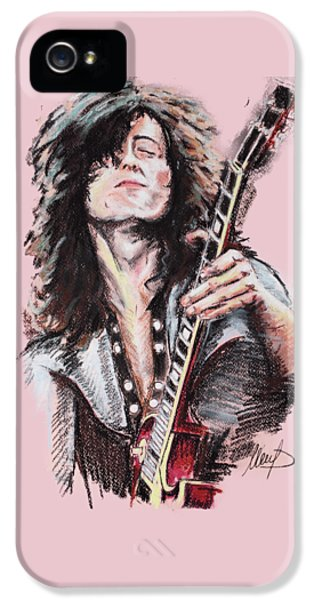 Jimmy Page IPhone 5 / 5s Case by Melanie D