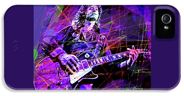 Jimmy Page Solos IPhone 5 Case by David Lloyd Glover