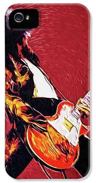 Jimmy Page  IPhone 5 Case by Taylan Apukovska
