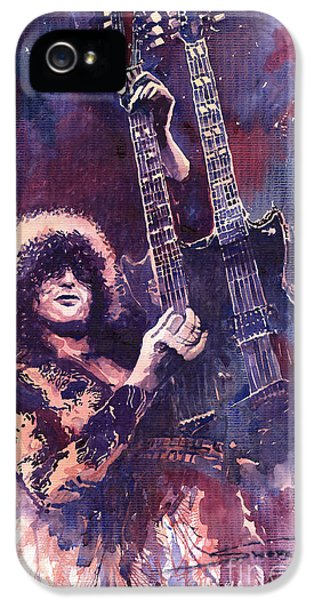 Jimmy Page  IPhone 5 Case by Yuriy  Shevchuk