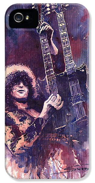 iPhone 5 Case - Jimmy Page  by Yuriy Shevchuk