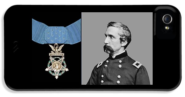 J.l. Chamberlain And The Medal Of Honor IPhone 5 Case by War Is Hell Store