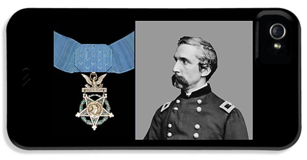 Gettysburg iPhone 5 Case - J.l. Chamberlain And The Medal Of Honor by War Is Hell Store