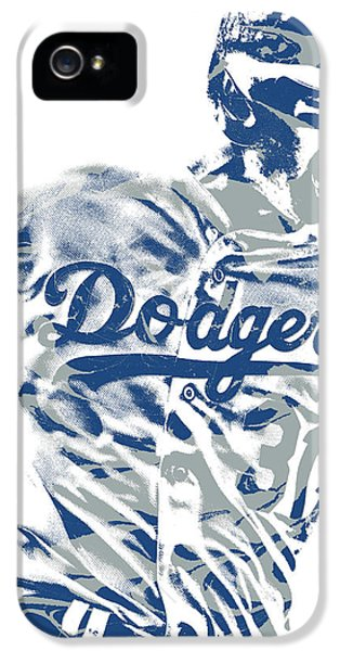 Los Angeles Dodgers iPhone 5 Case - Joc Pederson Los Angeles Dodgers Pixel Art 10 by Joe Hamilton