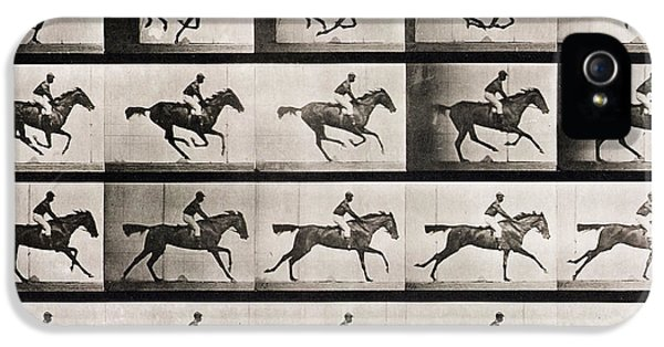 Horse iPhone 5 Case - Jockey On A Galloping Horse by Eadweard Muybridge