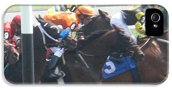Jockeying For Position IPhone 5 Case by Ian  MacDonald