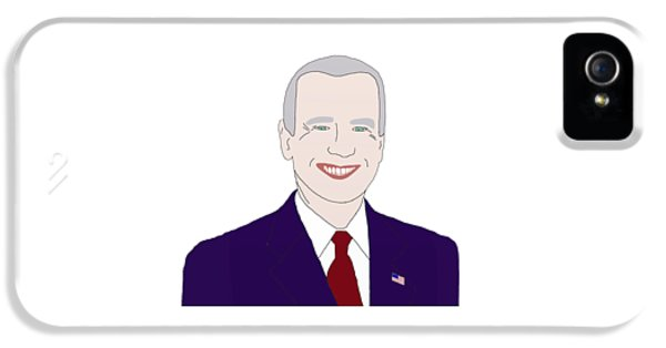 Joe Biden IPhone 5 Case by Priscilla Wolfe