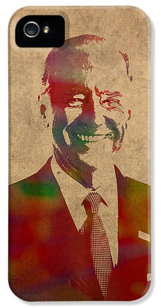 Joe Biden Watercolor Portrait IPhone 5 Case by Design Turnpike