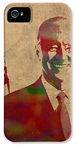 Joe Biden Watercolor Portrait IPhone 5 Case by Design Turnpike