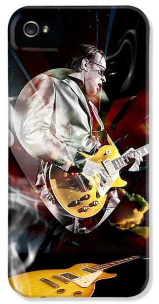 Joe Bonamassa Blue Guitarist IPhone 5 Case