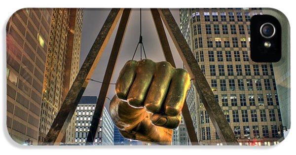 Joe Louis Fist Detroit Mi IPhone 5 Case