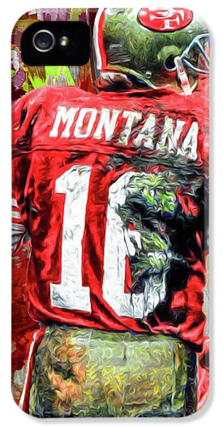 Joe Montana Football Digital Fantasy Painting San Francisco 49ers IPhone 5 / 5s Case by David Haskett
