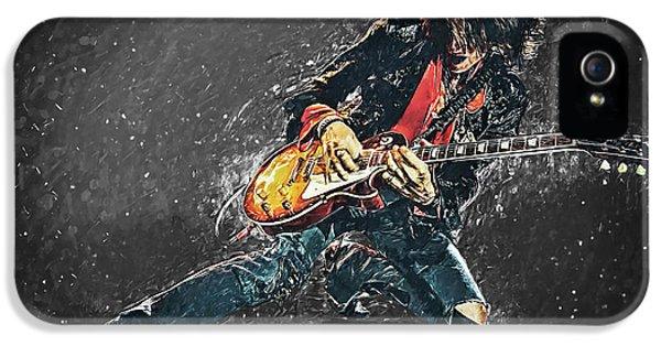 Steven Tyler iPhone 5 Case - Joe Perry by Taylan Soyturk