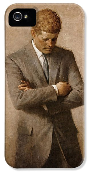 John F Kennedy IPhone 5 Case by War Is Hell Store