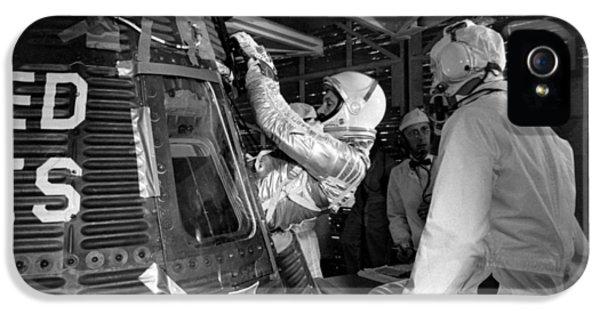 John Glenn Entering Friendship 7 Spacecraft IPhone 5 Case by War Is Hell Store