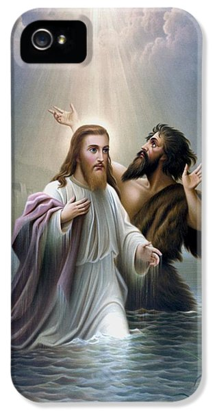 Dove iPhone 5 Case - John The Baptist Baptizes Jesus Christ by War Is Hell Store