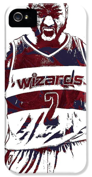 Wizard iPhone 5 Case - John Wall Washington Wizards Pixel Art 5 by Joe Hamilton