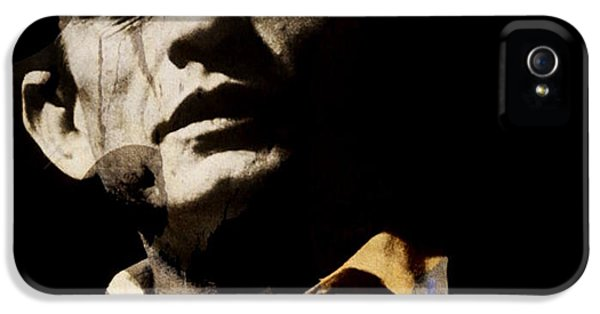 Johnny Cash iPhone 5 Case - Johnny Cash - I Walk The Line  by Paul Lovering