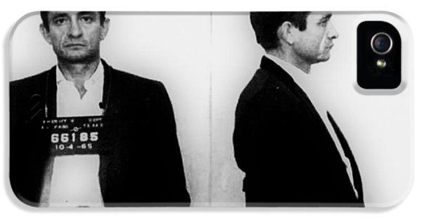 Johnny Cash Mug Shot Horizontal IPhone 5 Case by Tony Rubino