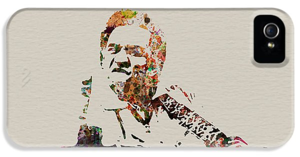 Johnny Cash iPhone 5 Case - Johnny Cash by Naxart Studio