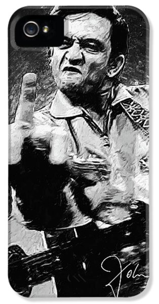 Johnny Cash iPhone 5 Case - Johnny Cash by Taylan Apukovska