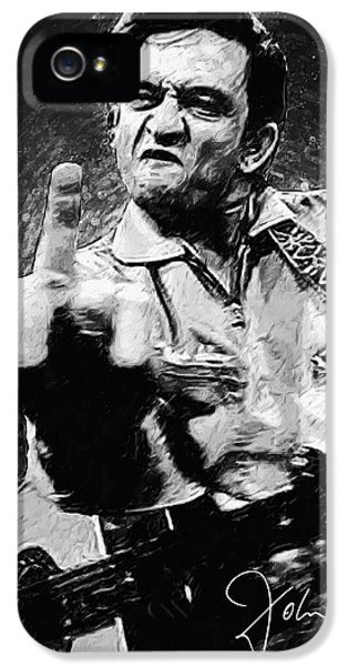 Rock And Roll iPhone 5 Case - Johnny Cash by Zapista