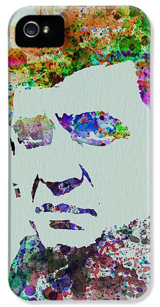 Johnny Cash iPhone 5 Case - Johnny Cash Watercolor 2 by Naxart Studio