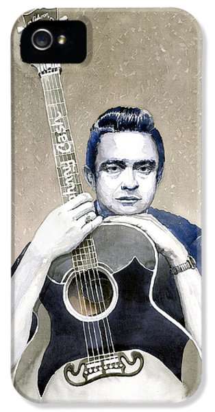 Johnny Cash iPhone 5 Case - Johnny Cash by Yuriy Shevchuk